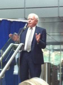 Sir David Attenborough gives an inspiring speech at the opening of the University of Bristol's Life Sciences building.